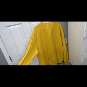 Yellow Nike sweatshirt!